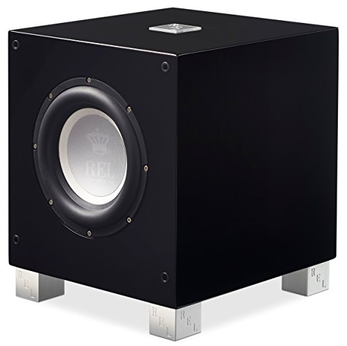 REL Acoustics T/7i Subwoofer, 8 inch Front-Firing Driver, Arrow Wireless Port, High Gloss Black