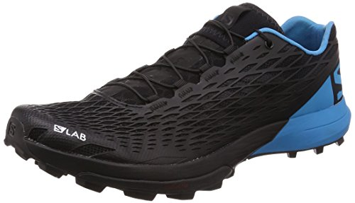 Salomon S/Lab XA Amphib, Zapatillas de Trail Running Unisex Adulto, Negro (Black/Transcend Blue/Racing Red 000), 42 2/3 EU