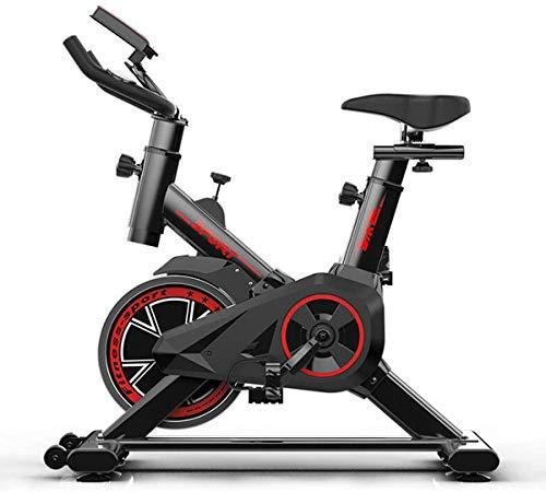 Lloow La Bicicleta estática Cubierta Bici de Accionamiento de Correa magnética Bicicleta estacionaria con Correa de transmisión un Lugar Tranquilo y Niveles de Resistencia Infiniti para Home Health