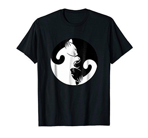 Cat Ying Yang Shirt - Cat lover Tee Women Men Kids Gift Idea