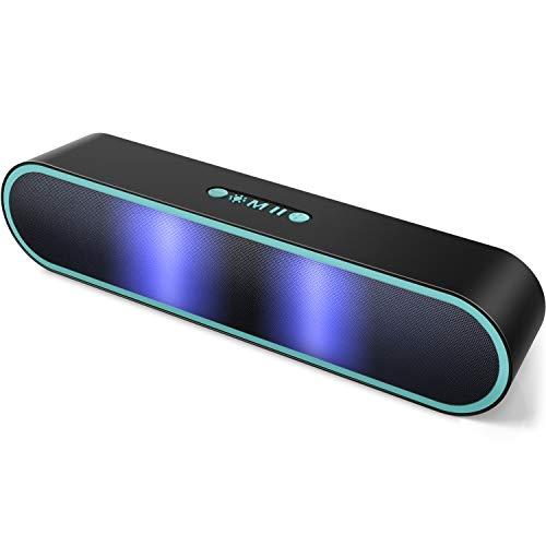 ELEHOT Bluetooth Lautsprecher Musikbox LED Tragbarer Bluetooth Box 20W Kabellos mit TWS Freisprechfunktion AUX (Blue)