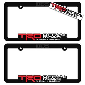 TRD OFF ROAD  2  License Plate Frames Toyota Racing Development 3D Letter Frame Brackets  1-Pair