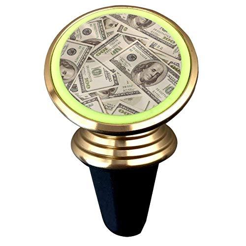 EINST - Soporte magnético para teléfono móvil con diseño de dólares artísticos para coche, rotación de 360 grados, soporte magnético de metal luminoso para iPhone y Samsung