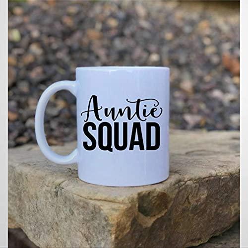 Taza, taza de café de tía, taza de cerámica para oficina y hogar, leche de té, cumpleaños para ella o él, 11 onzas