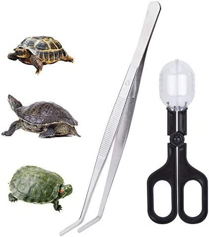 Lazat Chef Reptile Feeding and Poop Cleaning Tools Amphibian Feeding Tongs and Clip Straight product image
