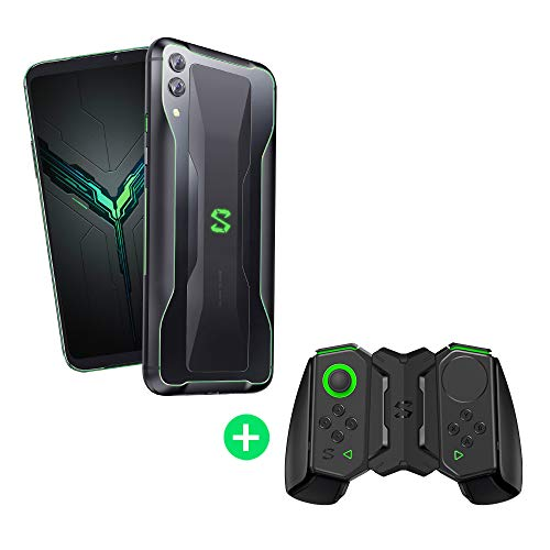 Black Shark 2 12GB+256GB Negro con Switch Kit (Black Shark Soporte Original Gamepad 2.0 + Mandos de Gamepad Versiones Izquierda/Derecha) Dual SIM, Snapdragon 855, Nuevo, Móvil, Teléfono de Juego
