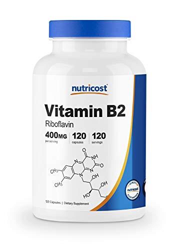 Nutricost Vitamin B2 (Riboflavin) 400mg, 120 Capsules - Gluten Free, Non-GMO