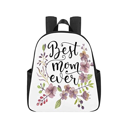 InterestPrint Best Mom Ever School Bag Backpack Back to School