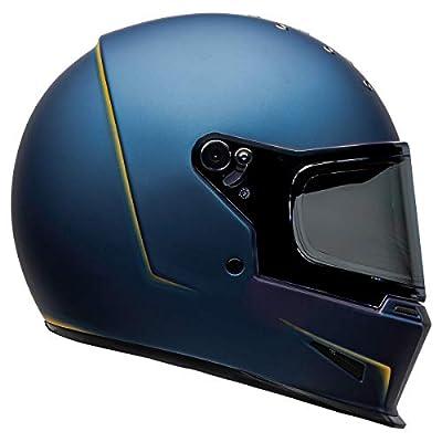 Bell Eliminator Adult Street Motorcycle Helmet - Vanish Matte Blue/Yellow / 2X-Large by Bell