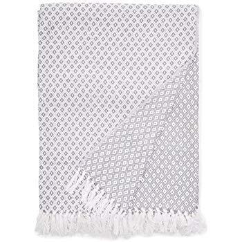 EHC Superweiche, graue, wendbare doppelseitige Baumwoll-Decke, geeignet als Bettbezug und auch als Bezug für Stühle und Sofa, 150x 200cm