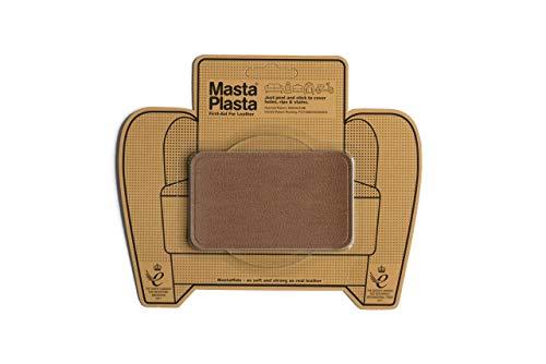 MastaPlasta Self-Adhesive Premium Instant Leather Repair Patch, Medium - 4 x 2.4 Inch. Tan. First-aid for Sofas, Car Seats & More