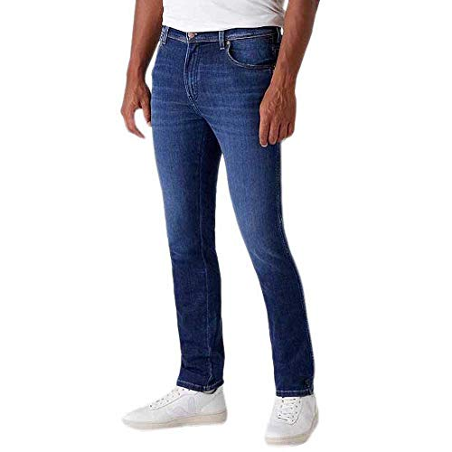 Wrangler Mens Texas Slim Jeans, Velvery Blue, 42W / 32L