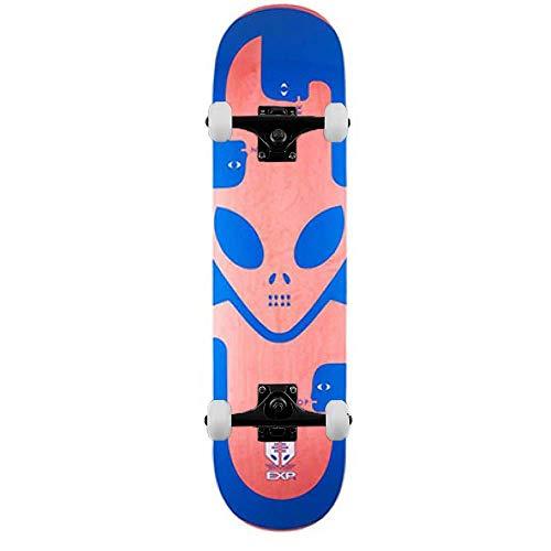 Alien Workshop Exp - Skateboard completo, 20,3 cm, colore: Blu