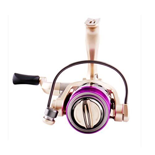 MMAXZ Carrete de Pesca Rueda Spinning 5 + 1 Rodamiento Mano Izquierda y Derecha Cambio de Vidrio de mar Intercambiable Descarga Delantera Carrete de Pesca