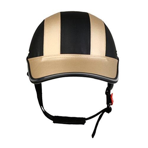 F Fityle Fahrradhelm Baseball Helm Herren & Damen Visier Helmschild Skatehelm Jugendhelm Mountainbike Helm - Schwarz Gold