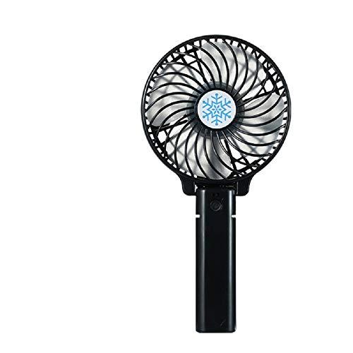 TaiRi Tragbarer Tischventilator, kleiner persönlicher tragbarer Tischventilator, USB-Akku, Kühlung, faltbar, elektrischer Ventilator für Reisen, Büro, Zimmer, Haushalt Schwarz
