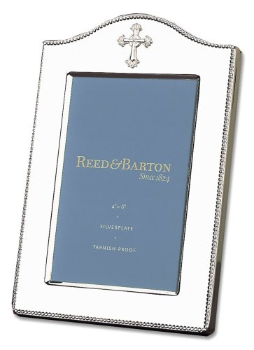 Reed & Barton Abbey Cross Silverplate 4' x 6' Frame, 1.05 LB, Metallic