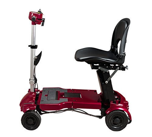 iLiving - i3 Foldable Electric Scooter - Mobility for Seniors and Adults with a Handicap - Alternative to Wheelchair - Portable and Travel-Friendly - Standard ES Seat - Burgundy, 16 Inch, 848 Ounce
