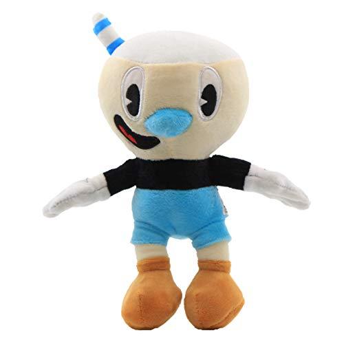 Cuphead Plush Toys Cuphead Mugman Mecup Or Brocup Soft Stuffed Doll Kids 25cm