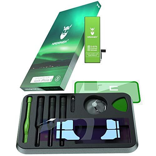 Hagnaven Batteria ai polimeri di litio per Apple iPhone 8 | con kit di montaggio | 1921 mAh | Batteria sostitutiva PIÙ POTENTE | CELLE DI ALTISSIMA QUALITÀ | MIGLIORE DURATA