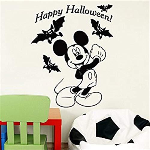 hetingyue Creatieve leuke cartoon muis Halloween kostuum kinderen baby naam wandtattoo kinderkamer decoratie huis