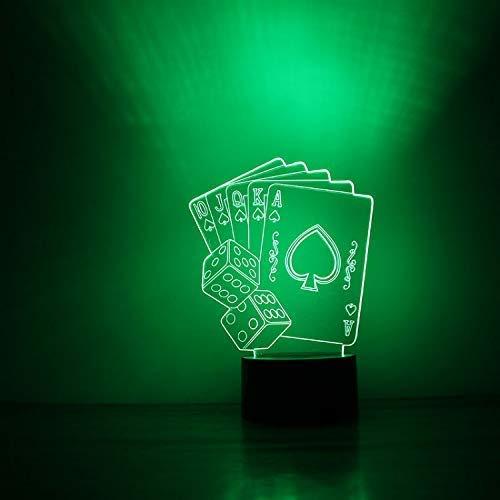 Nightlight Touch Creatieve 3D-LED USB Visual Nachtlampjes voor kinderen Speeltafel Baby Sleeping Nightlight Speelkaart lamp Home Decor