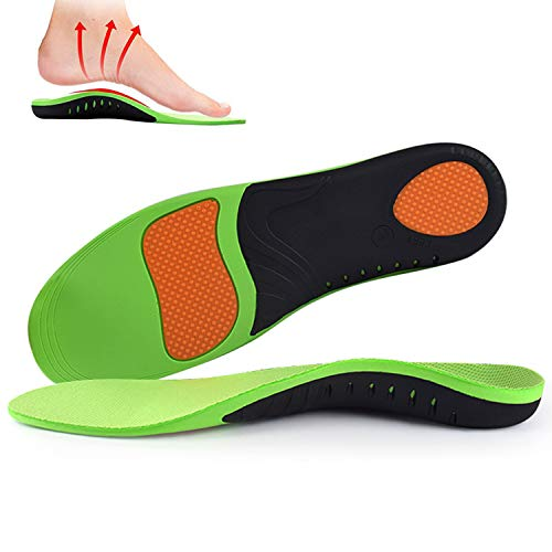 Arch Supports Insoles - Relieve Foot Pain  Flat Feet  High Arche  Shoe Insoles Gel Plantar Inserts Orthotic Inserts Professional Doctor Recommends for Women Men Kids(Green XL)