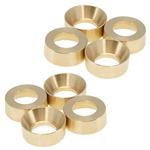 lahomia 8X 1/24 RC Cubos de Llantas de Rueda de Metal para Axial SCX24 AXI00001 Coche Buggy DIY Accs