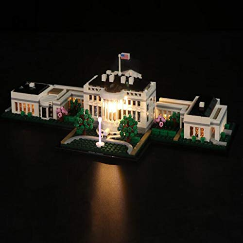 XW Juego De Luces LED para Bloques De Construcción De Juguete - Compatible con Lego 21054 U.S. White House Building Blocks - No Incluye Modelo Lego