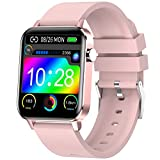 Judneer Smartwatch Mujer, 1.4'' Reloj Inteligente Rosa IP68