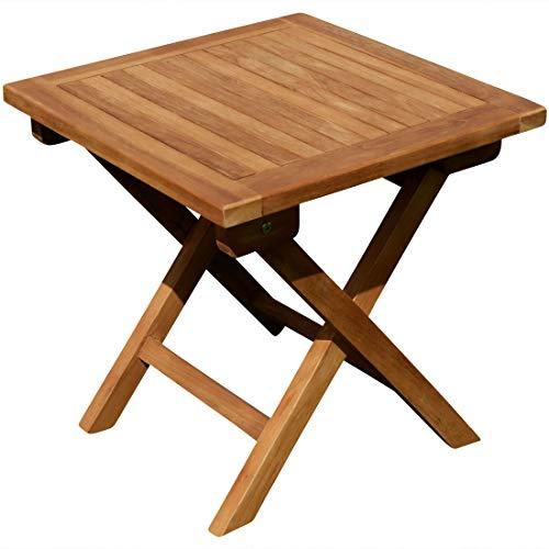 ASS Teak Klapptisch Holztisch Gartentisch Garten Tisch Beistelltisch 45x45cm Holz JAV-Picnic