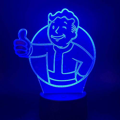Juego De Luces Nocturnas 3D Fallout Shelter Sensor De Luz Nocturna Led...
