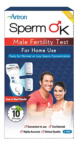 SpermOK #1 Male Fertility Test for Home Use, CE Approved, Easy Sperm Check Device, Indicates Normal or Low Sperm Count, Convenient, Accurate and Private Semen Analysis for Men