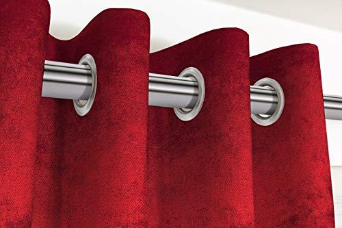McAlister Textiles Cortinas de terciopelo brillante, 2 paneles, diseño suave y lujoso, hechas a pedido, cortinas y cortinas, plisadas de algodón, totalmente forradas, ancho 116 cm x 228 cm