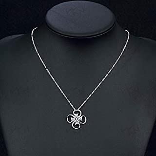 European and American Jewelry Popular Silver Jewelry Long Necklace (Color : Purple) Girls Necklace (Color : White)