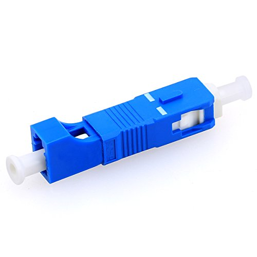 Single Mode 9/125um SC Male to LC Female Hybrid Optic Optical Fiber Adapter Simplex Converter