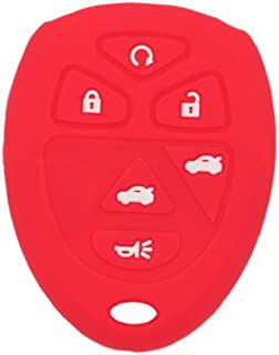 SEGADEN Silicone Cover Protector Case Skin Jacket fit for CHEVROLET GMC SATURN 6 Button Remote Key Fob CV4608 Red