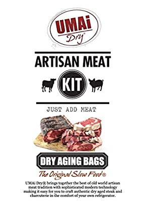 UMAi Dry Ribeye Striploin Sized   Dry Age Bags for Meat   Breathable Membrane Bags for Dry Aging Steak   Easy At Home Dry Aging in Your Refrigerator   Includes 3 Bags