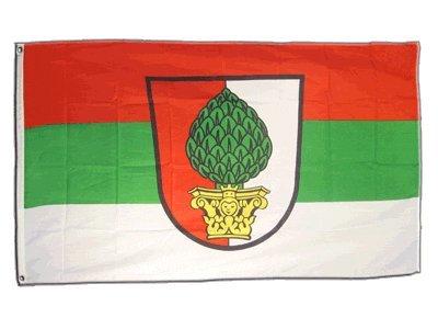 Flaggenfritze Fahne/Flagge Deutschland Stadt Augsburg + gratis Sticker, 115 gr/m²