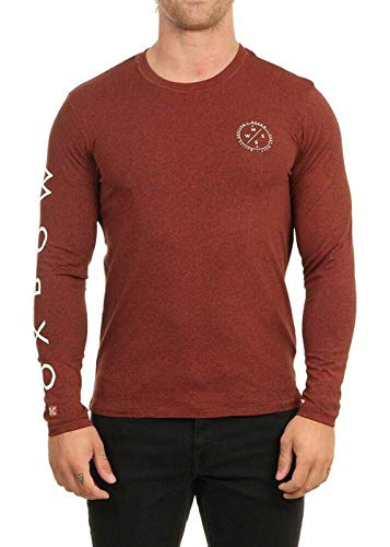 OxbOw M2TOUEZ Tee Shirt Manches Longues Homme, Rouge (Rouille), XXL