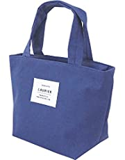 LAURIER Lunch Bag Women Men, Lunch Bag Insulated, Top Handle, Reusable Food Lunch Box Tote, Medium Size, Handbag, Japan Quality, Keep Warm/Cool/Fresh, Japan Import