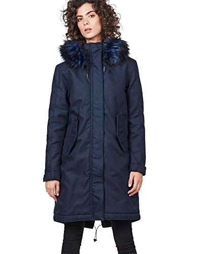G-STAR RAW Damen Rovic Bf Padded Faux Fur Wmn Parka, Blau (Sartho Blue 6067), Medium
