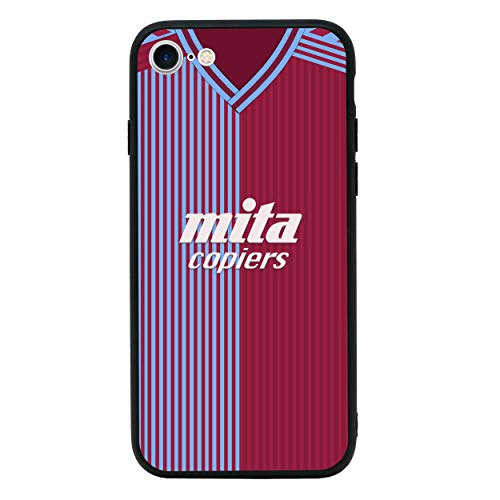 Retro Voetbalshirts Achterkant van Gehard Glas Geval Compatibel met iPhone 7 - Telefoon Beschermhoes voor 4,7 inch Scherm