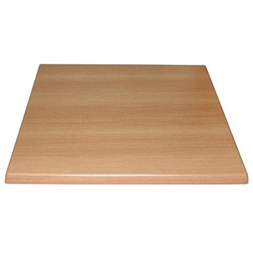 Bolero Kwadratowy blat stołu buk 600 mm drewno restauracja catering hotel bar
