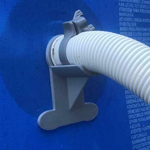 Senaxes 2 soportes para tubos de piscina: gris para tubos de 30 mm a 41 mm, diseñado para adaptarse a piscinas Intex