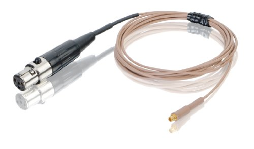 Countryman E6CABLET2SL Duramax Aramid-Reinforced E6 Series Earset Snap-On Cable for Shure Carvin JTS Trantec Transmitters (Tan)