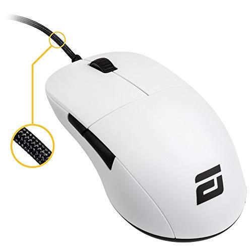 ENDGAME GEAR XM1 Gaming Maus mit Kabel - Optischer PWM3389-Sensor - 50 : 16.000 DPI - 5 Tasten – Omron 50M Switches < 1 ms Taster Reaktionszeit – USB Ergonomische Leichte Maus - Weiß