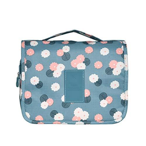 Bolsa de aseo Bolsa de viaje con bolsa de baño de gancho colgante para viajar - para accesorios, bolsos de ducha de champú para mujeres-blue
