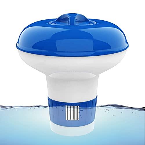 Dosificador Cloro Piscina,5 inch Dispensador Cloro Piscina,Flotador Cloro para Piscinas,Boya Cloro Piscina,Clorador Flotante,Dosificador Cloro Liquido Para Piscinas, para Piscina, Estanque, SPA