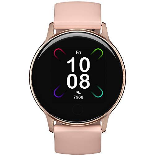Smartwatch, UMIDIGI Uwatch 3S Fitnessuhr mit Blutsauerstoff-Monitor(SpO2), Pulsuhr, wasserdichte Smart Watch Fitness Tracker mit Stoppuhr, Schrittzähler, Schlafmonitor für Damen und Herren, Rosa Gold